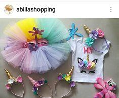 Conjunto tutu personalizado unicornio Abilia shopping