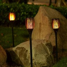 Turn your home or backyard into someplace right out of a fairy tale with the Hanging Solar Swirl Wind Spinner. Solar panels charge the batteries during the day so that the sensor can automatically turn on the LED lights. Tiki Lights, Solar Lights, Spot Lights, Porch Lighting, Outdoor Lighting, Solar Lanterns, Porch Lanterns, Torch Light, Lampe Led