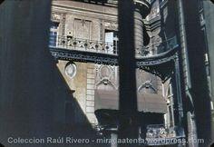 Década de 1960: Patio interno del Palacio San Martín sobre la calle Esmeralda.
