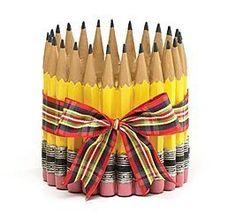 Pencil Shape Planter/Vase For Teacher,Classroom, Student, Home Decor by A+ Teacher Collection, http://www.amazon.com/dp/B001AU461S/ref=cm_sw_r_pi_dp_gSS3rb0Q0STXZ