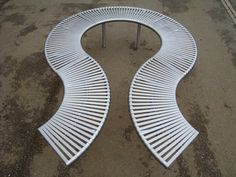 ref 074ss stainless steel curved bench