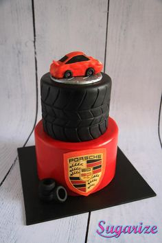 Orange Porsche Cake - Cake by Sara from Sugarize
