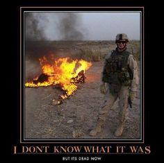 War humor, funny, military, demotivator, Aliens, Army, Marines, Navy, kill kill kill