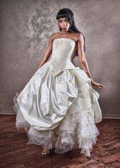 Cinderella Ball Gown Alternative Wedding Dress by KMKDesignsllc, $675.00