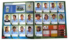 Panini Checkliste WM 2010 Uruguay Sticker eingeklebt