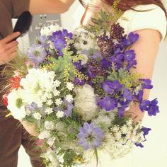 夏のブーケ*パープル&ホワイト|福岡・熊本のウエディングドレスJUNO | 春のブーケ spring bouquet