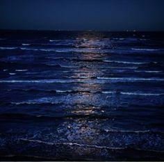 True midnight blues.  Shimmering, enlightening, calming, never ending.  Love it.