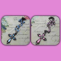 Tulossa myyntiin tällä viikolla <3 #ristikorut #crosses #ristikaulakoru #ristit #teadesign #helmipaikka #pink #babyblue
