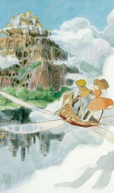 イラスト風 天空の城ラピュタのiPhone壁紙 | 壁紙キングダム スマホ版