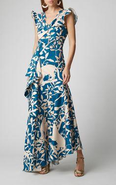 Elegant V Neck Printed Colour Maxi Dress – ebuytide Backless Maxi Dresses, Floral Maxi Dress, Casual Dresses, Fashion Dresses, Maxi Outfits, Dress Collection, Beautiful Dresses, Ideias Fashion, Gowns