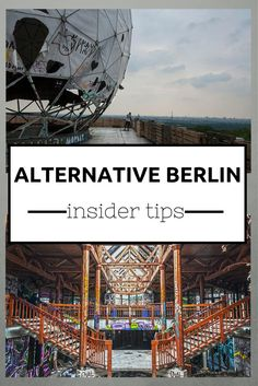 Alternative Berlin Insider Tips. Visit: www.me 18 alternative Berlin insider tips, from abandoned places to unusual tours, quirky museums and a legendary spa. Also includes quirky Berlin hotels! Berlin City Guide, Hamburg Guide, Places To Travel, Places To See, Travel Destinations, Berlin Travel, Germany Travel, Berlin Germany, Berlin Berlin