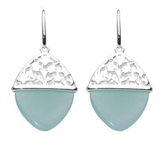 ASTER BLUE JADE AND SILVER EARRINGS  FROM www.belmontjewellers.co.uk  kit heath spring 2014 Silver Earrings, Silver Jewelry, Drop Earrings, Valentine Gifts, Valentines Day, Happy Mothers Day, Sterling Silver, Aster, Blue