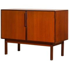 1960s, Teak and Palisander Small Sideboard Cabinet by Asko Finland For Sale