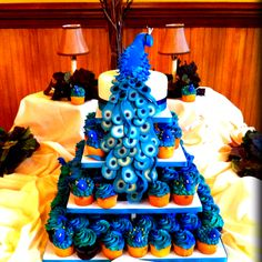 Peacock wedding cake made by yours truly :-)