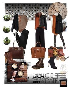 """Dressed In The Colours Of Coffee; Brown, Black, Milk, Creme & Café au lait!"" by lanaspreco ❤ liked on Polyvore featuring House Doctor, Chloé, Tom Ford, STELLA McCARTNEY, Brunello Cucinelli, Prada, Dsquared2, Chicwish, River Island and MKF Collection"