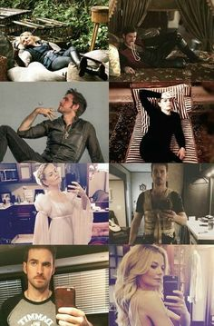 I think some of them are fake but CS/Colifer is sooooo awesomeee Once Upon A Time Funny, Once Up A Time, Jennifer Morrison, Emma Swan, Outlaw Queen, Emilie De Ravin, Ouat Cast, Hook And Emma, Killian Jones