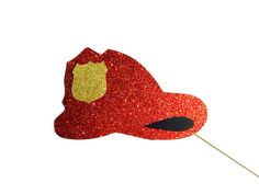 Hey, I found this really awesome Etsy listing at https://www.etsy.com/listing/179972359/photo-booth-props-glitter-firefighter