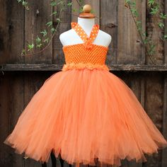 Orange tutu dress pumpkin pettiskirt by BloomsNBugs on Etsy, $60.00