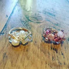 #regram of @mwl2010's beautiful creations from one of our #cocktailring workshops last weekend. A fab pair of rings, great job! ✂  ✂ #craftyhen #diyjewellery