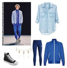 """NCT 127-LIMITLESS """"Jaehyun"""" *female version* by shin-chai on Polyvore featuring polyvore, fashion, style, Rails, Mads Nørgaard, adidas Originals, Converse, clothing, kpop, wardrobe, Jaehyun and nct"""