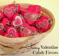 Tutorial:  Classy Valentine Candy Favors - dollar store craft!