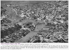 Modern Manila from an elevation of feet meters), National Geographic Magazine, Sept. Historical Architecture, Amazing Architecture, Philippine Architecture, Famous Photos, Post Office, Manila, Old Pictures, National Geographic, Philippines