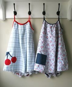 mmmcrafts: summer jammies from thrifted sheets