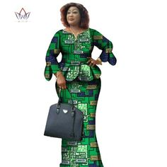 Image of Two Piece Set,African Women Print Plus Size African Women Clothes, Ruffles Petal Sleeve Crop Top and Skirt Sets Latest African Fashion Dresses, African Dresses For Women, African Print Fashion, African Attire, African Wear, African Women, Unique Cocktail Dresses, Ghanaian Fashion, African Traditional Dresses