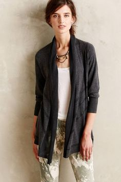 Charcoal Composition Cardigan by Angel of the North