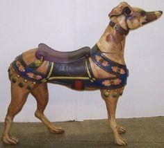 Greyhound carousel dog.