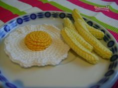 FREE PATTERN ~ C ~ WRITTEN IN SPANISH ~ Fried egg with potatoes