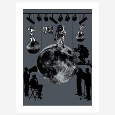 Man On The Moon Lithograph design inspiration on Fab.