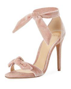 4670a89c609 Alexandre Birman Clarita Velvet Ankle-Tie 100mm Sandal