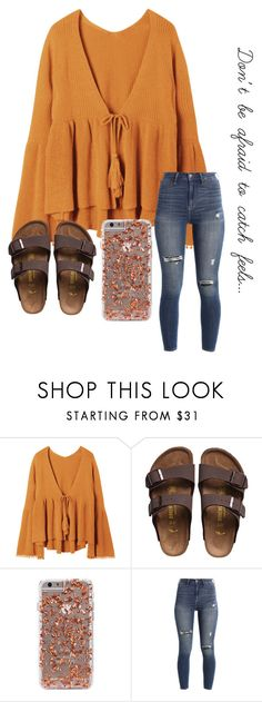 """""""Feels ~ Calvin Harris ft. Everyone"""" by khaelynn ❤ liked on Polyvore featuring Birkenstock and Hollister Co."""