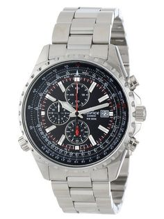 """Casio Men's """"Edifice"""" Stainless Steel Multi-Function Watch The Casio Men's Edifice Stainless Steel Multi-Function Chronograph Watch exists at the Best Watches For Men, Cool Watches, Solar, Casio Edifice, Sport Watches, Citizen Watches, Casio Watch, Seiko, Chronograph"""