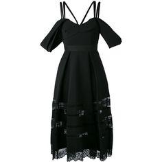 Self-Portrait off shoulder dress featuring polyvore women's fashion clothing dresses black self portrait dress off shoulder dress off the shoulder dress