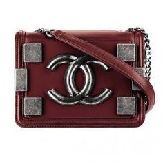 Chanel Dark Red Boy Brick Flap Small Bag - Fall 2013