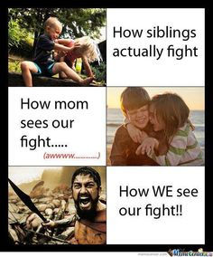 How siblings really fight...