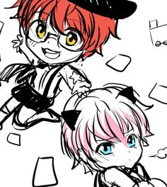 Saeyoung (Luciel/Seven/707/Defender of Justice) and Saeran (Unknown)