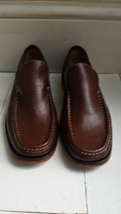 9b83f69c938 WORN FOR 10 MINS - PATRICK COX WANNABE Tan Leather Loafers  Shoe Size EU41.