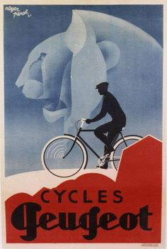 Cycles Peugeot, 1931. Roger Perot. Paper lithograph on linen.