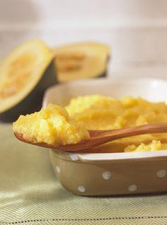 Purée de courge poivrée à l'érable: le petit goût sucré du sirop d'érable est très bon!