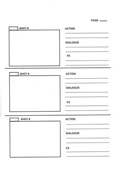 Page Storyboard Template Film Video Examples Animation