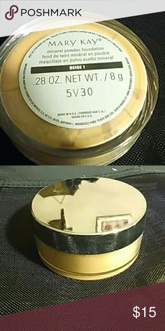Mary Kay mineral powder foundation in Beige 1 Brand new . 28 0z net wt./8g doesn't come with box .or brush. Mary Kay Makeup Foundation