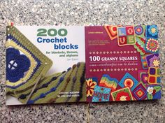"""2 patroonboeken voor deze granny's, andere patroontjes komen van internet. - kijk eens op mijn bord """" haken: granny squeres"""""""