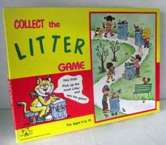 "Children's Game ""Collect the Litter"" - great for pre K - 3rd grade :-)"