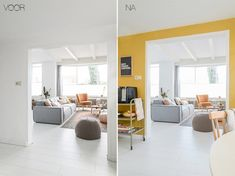 Furnishing the home - What colour do you give to the kitchen wall? Informations About Huis inrichten – We. Yellow Accent Walls, Yellow Interior, Inside Design, Home Decor Inspiration, Colorful Interiors, Decoration, Sweet Home, Bedroom Decor, House Design