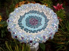 Instructions for a mosaic bird bath.
