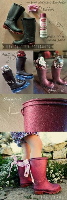 Glitter boots. This is for you Chelsy