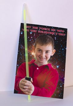 Glow stick Valentine.  Forceful Valentines for candy free options for Valentine's Day Cards!